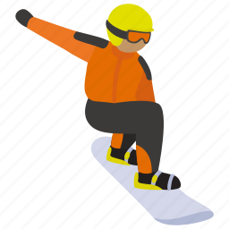 extreme, recreation, slope, snowboarding, sport, winter icon