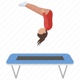 flip, gymnast, jump, jumping, somersault, trampoline icon