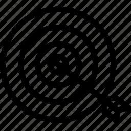 aim, dart, dart board, target icon icon