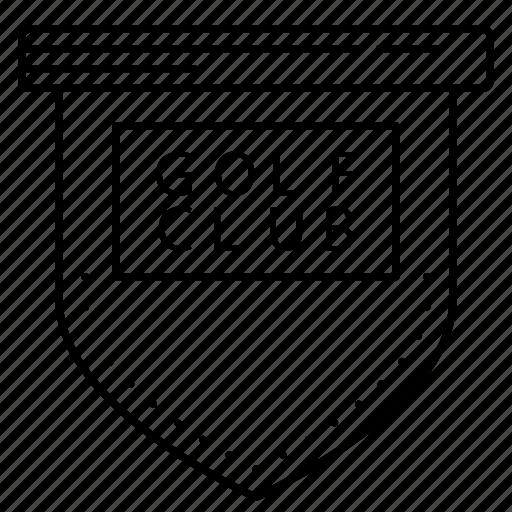 board, club, frame, golf, tag icon