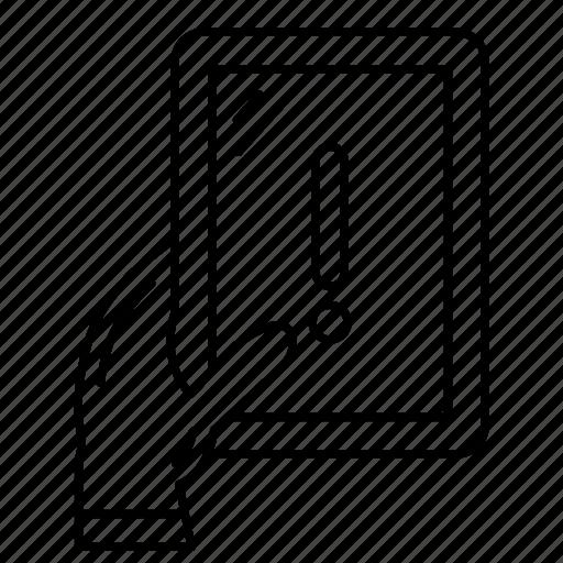 device, error, mobile, phone, warning icon