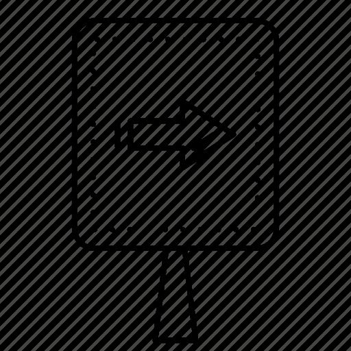 arrow, board, direction, pointer, right icon