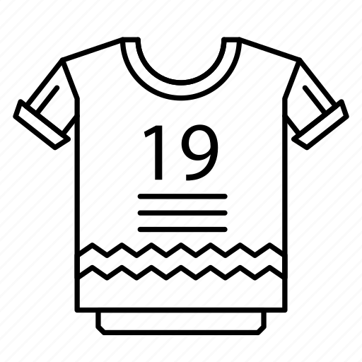 cloth, dress, player, shirt, wear icon