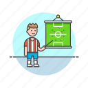 coach, football, game, man, plan, soccer, sports, strategy icon
