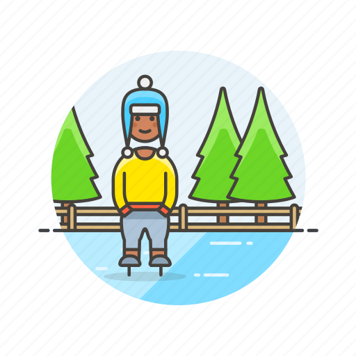 hobby, ice, man, skating, snow, sports, winter icon