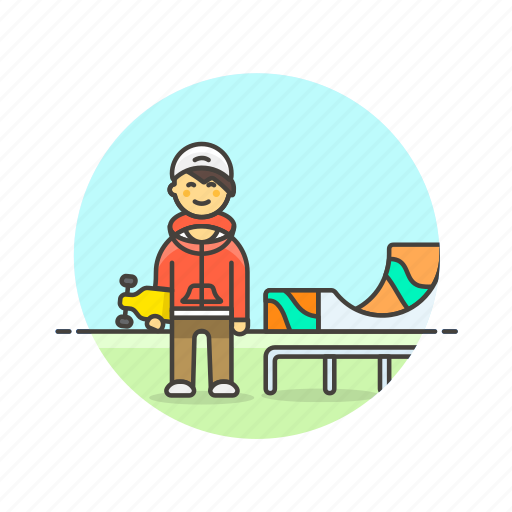Skateboard, sports, activity, hobby, man, outdoor, urban icon - Download on Iconfinder