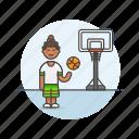basketball, sports, street, ball, game, play, woman