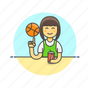 basketball, sports, street, ball, drink, play, woman