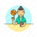 ball, basketball, drink, game, man, play, sports, street icon
