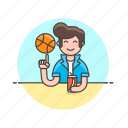 ball, basketball, drink, man, play, sports, street icon