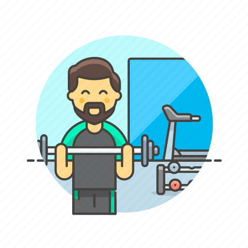 Sports, trainer, equipment, exercise, gym, man, weightlifting icon - Download on Iconfinder