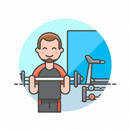 Sports, trainer, equipment, exercise, fitness, man, treadmill icon - Download on Iconfinder