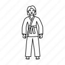 fitness, karate, martial arts, sport icon