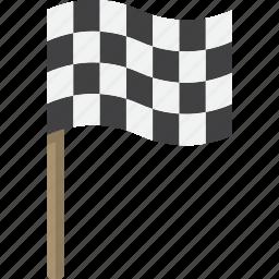 checkered, flag, go, race icon