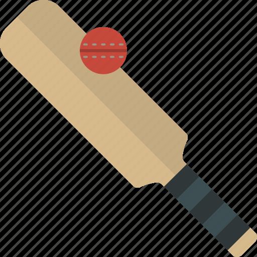 ball, bat, cricket, game icon
