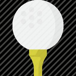 ball, golf, tee icon