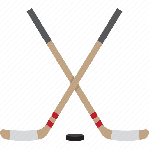 hockey, hockey stick, hockey sticks, ice, puck, sticks icon