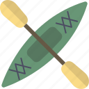 boat, kayak, paddle, row icon