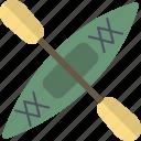 boat, kayak, paddle icon
