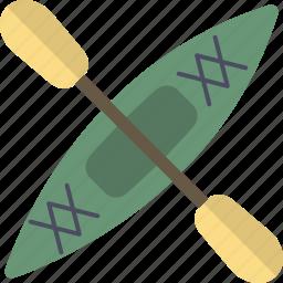 boat, kayak, paddle, row icon