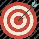 aim, archery, arrow, bow, target icon