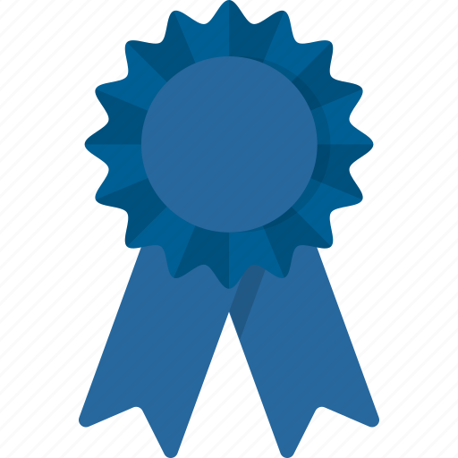 award, blue, first, place, ribbon, winner icon