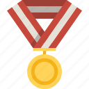 gold, medal, prize, winner icon
