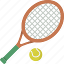 ball, racket, tennis, tennis racket icon
