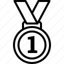 gold, medal, no 1, number 1, olympics icon
