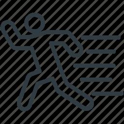jogger, man running, racer, runner, sportsman icon