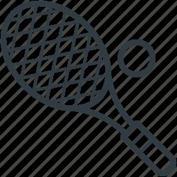 racket, sports, squash racket, tennis ball, tennis racket icon