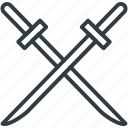 crossguard swords, medieval blade, medieval swords, swords, two swords icon