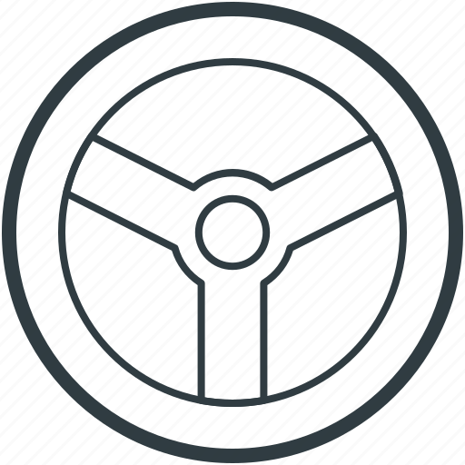 car drive, car helm, car steering, steering, wheel steering icon