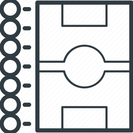 football field, football ground, football pitch, soccer field, stadium icon