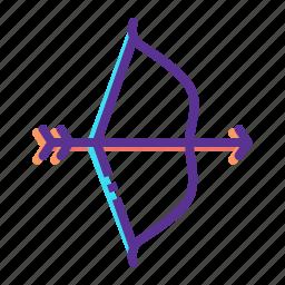aim, archery, arrow, bow, hunt, target, weapon icon