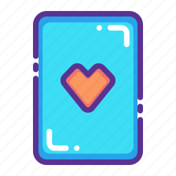 card, casino, gamble, heart, luck, playing, poker icon