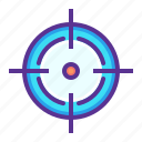 aim, crosshair, goal, hit, marketing, shoot, target icon