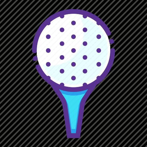 ball, game, golf, pin, play, tee icon