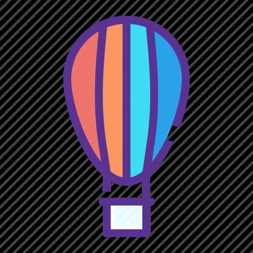 air, balloon, fly, fun, parachute, transport, travel icon