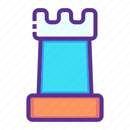 chess, game, move, piece, play, rook, strategy icon