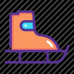 fun, ice skating, shoes, skate, skateboard, skating icon