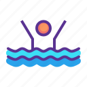 activity, exercise, olympics, pool, swim, swimming, water icon