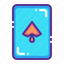 card, casino, gamble, luck, playing, poker, spade icon