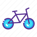 bicycle, bike, cycle, cycling, transport, travel icon
