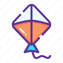 air, fly, flying, kite icon