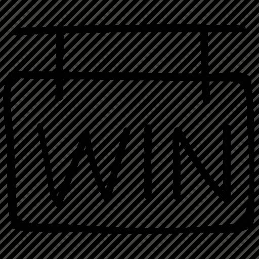 info, information, win, winner icon