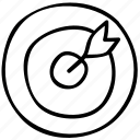 aim, dart, goal, target icon