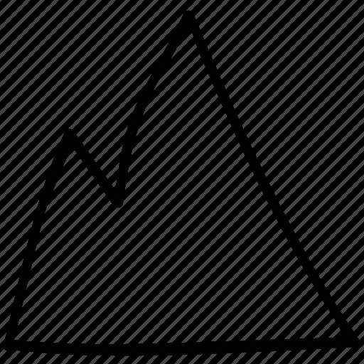 landscape, mountain icon