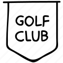 game, golf club, information, sports icon