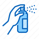 aerosol, can, disinfection, hand, spray icon